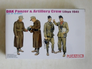 DRAGON 1/35 6693 DAK PANZER   ARTILLERY CREW LIBYA 1941