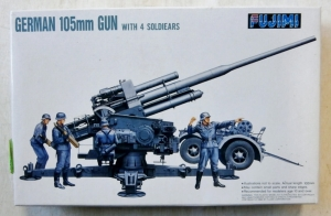 FUJIMI 1/76 76024 GERMAN 105mm GUN WITH 4 SOLDIERS
