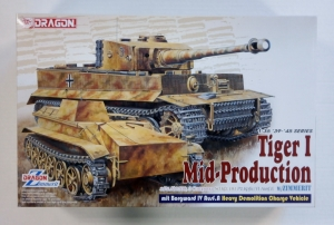 DRAGON 1/35 6866 TIGER I MID-PRODUCTION w/ZIMMERIT S.Pz.Abt.508 3 COMPANY