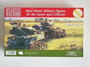 PLASTIC SOLDIER 1/72 WW2V20014 ALLIED STUART M5A1 TANK