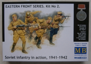 MASTERBOX 1/35 3523 EASTERN FRONT SERIES KIT 2 SOVIET INFANTRY IN ACTION 1941-42