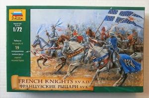 ZVEZDA 1/72 8036 FRENCH KNIGHTS XV A.D.