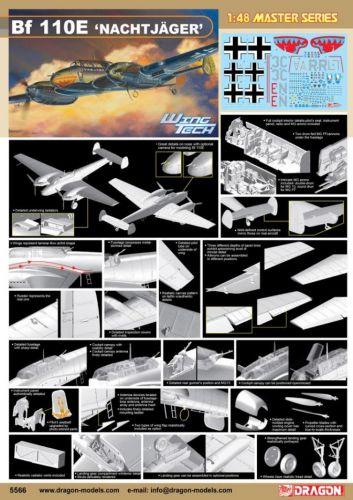 DRAGON 1/48 5566 MESSERSCHMITT BF 110E NACHTJAGER