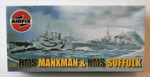 AIRFIX 1/600 04214 HMS MANXMAN   HMS SUFFOLK