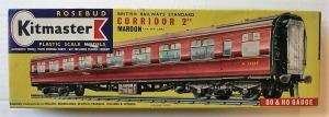 KITMASTER ROSEBUD HO/OO 14 BRITISH RAILWAY STANDARD CORRIDOR 2ND MAROON