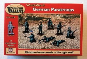 VALIANT MINIATURES 1/72 006 WWII GERMAN PARATROOPS