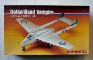 HUMBROL 1/72 72011 DeHAVILLAND VAMPIRE
