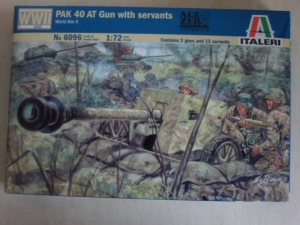 ITALERI 1/72 6096 PAK 40 ANTI-TANK GUN WITH CREW