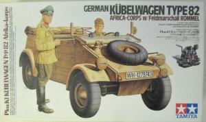 TAMIYA 1/16 36202 GERMAN KUBELWAGEN TYPE 82 w/ FIELDMARSCHALL ROMMELL