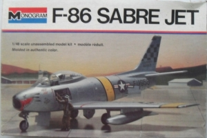 MONOGRAM 1/48 5402 F-86 SABRE JET