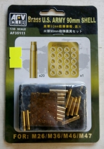 AFV CLUB 1/35 35111 US ARMY BRASS 90mm SHELL