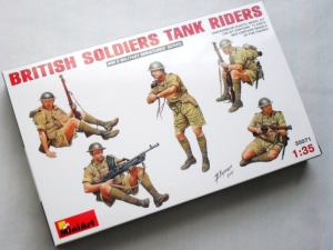 MINIART 1/35 35071 BRITISH SOLDIERS TANK RIDERS