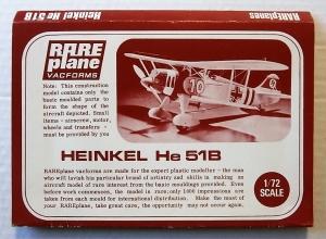 RAREPLANE 1/72 HEINKEL He 51B