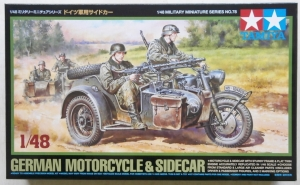 TAMIYA 1/48 32578 GERMAN MOTORCYCLE   SIDECAR