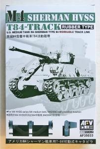 AFV CLUB 1/35 35033 M4 SHERMAN HVSS T-84 TRACK RUBBER TYPE