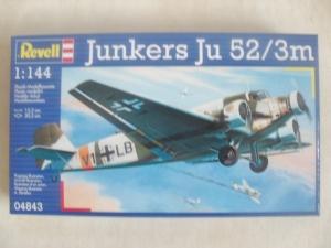REVELL 1/144 04843 JUNKERS Ju 52/3m