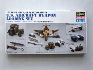 HASEGAWA 1/72 X72-5 US AIRCRAFT WEAPON LOADING SET
