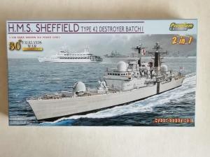 CYBER-HOBBYCOM 1/700 7133 HMS SHEFFIELD TYPE 42 DESTROYER BATCH I