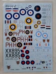 XTRADECAL 1/72 72208 HISTORY OF RAF 12th SQUADRON WWI TO PRESENT DAY
