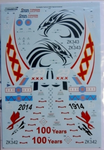 XTRADECAL 1/32 32056 EUROFIGHTER TYPHOON FGR.4 SPECIAL SCHEMES