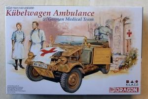 DRAGON 1/35 6336 KUBELWAGEN AMBULANCE w/GERMAN MEDICAL TEAM