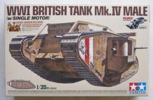 TAMIYA 1/35 30057 WWI BRITISH TANK Mk.IV MALE