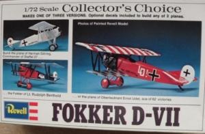 REVELL 1/72 H71 FOKKER D-VII