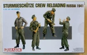 DRAGON 1/35 6192 STURMGESCHUTZE CREW RELOADING RUSSIA 1941
