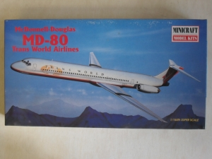 MINICRAFT 1/144 14452 McDONNELL-DOUGLAS MD-80 TRANS WORLD AIRLINES