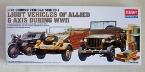 ACADEMY 1/72 13416 WWII LIGHT VEHICLES OF ALLIED   AXIS
