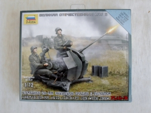 ZVEZDA 1/72 6117 20mm AA GUN WITH CREW