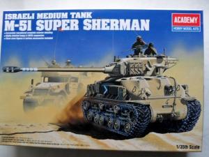 ACADEMY 1/35 1373 M-51 SUPER SHERMAN