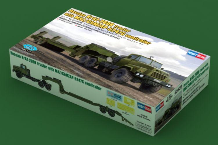 HOBBYBOSS 1/35 85523 RUSSIAN KRAZ-260B TRACTOR W/ MAZ/CHMZAP-5247G SEMI-TRAILER  UK SALE ONLY