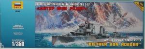 ZVEZDA 1/350 9043 WWII GERMAN DESTROYER Z-17 DIETHER VON ROEDER