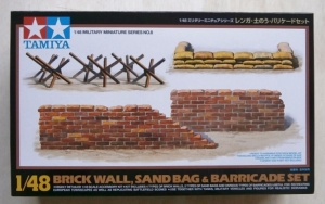 TAMIYA 1/48 32508 BRICK WALL SAND BAG   BARRICADE SET