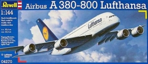 REVELL 1/144 04270 AIRBUS A380-800 LUFTHANSA