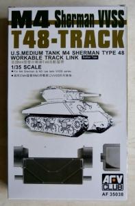 AFV CLUB 1/35 35038 M4 SHERMAN VVSS T48 TRACK LINKS