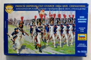 ZVEZDA 1/72 8030 FRENCH IMPERIAL OLD GUARDS  1804-1815  GRENADIERS