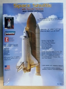 LINDBERG 1/200 91002 SPACE SHUTTLE WITH BOOSTER ROCKETS