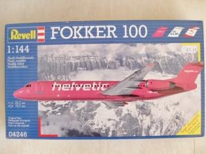 REVELL 1/144 04246 FOKKER 100 HELVETIC KLM AUSTRIAN
