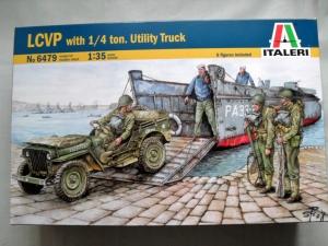 ITALERI 1/35 6479 LCVP WITH 1/4 TON UTILITY TRUCK