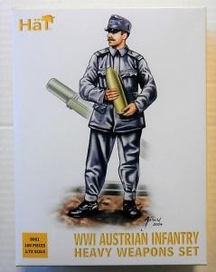 HAT INDUSTRIES 1/72 8081 WWI AUSTRIAN INFANTRY HEAVY WEAPONS SET
