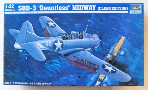 TRUMPETER 1/32 02244 SBD-3 DAUNTLESS MIDWAY  CLEAR EDITION