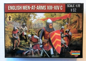STRELETS 1/72 M118 ENGLISH MEN-AT-ARMS XIII-XIV C