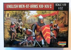 STRELETS 1/72 M118 ENGLISH MEN-AT-ARMS XIII-XIV C