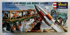 REVELL  H-1821 169 HONEST JOHN MISSILE w/CARRIER S TYPE BOXING 1958