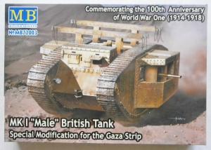 MASTERBOX 1/72 72003 Mk.I MALE BRITISH TANK GAZA STRIP
