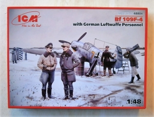 ICM 1/48 48804 MESSERSCHMITT Bf 109F-4 WITH LUFTWAFFE PERSONNEL