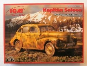 ICM 1/35 35475 KAPITAN SALOON WWII GERMAN STAFF CAR