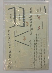0 1/200 1368. JET DECAL 200014 747-4Q8 VIRGIN ATLANTIC SCARLET LADY